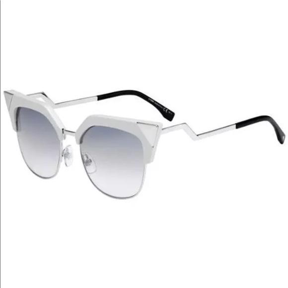 37a0af7ea92 Fendi Accessories - Fendi FF 0149 S Iridia White Cateye Sunglasses